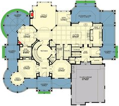 Plan W23500JD: Corner Lot, Luxury, Shingle Style, Victorian House Plans & Home Designs