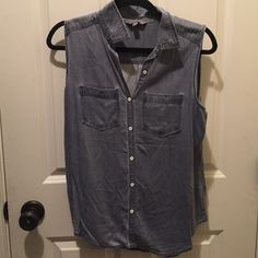 Jean tank top In good condition Rubbish Tops Tank Tops