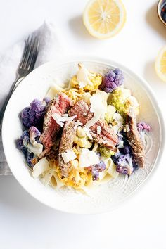 Tagliatelle with Roasted Cauliflower. A delicious California-inspired pasta!