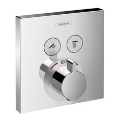 ShowerSelect Square Thermostatic 2-Function Trim  New product from Hansgrohe. Very clean.