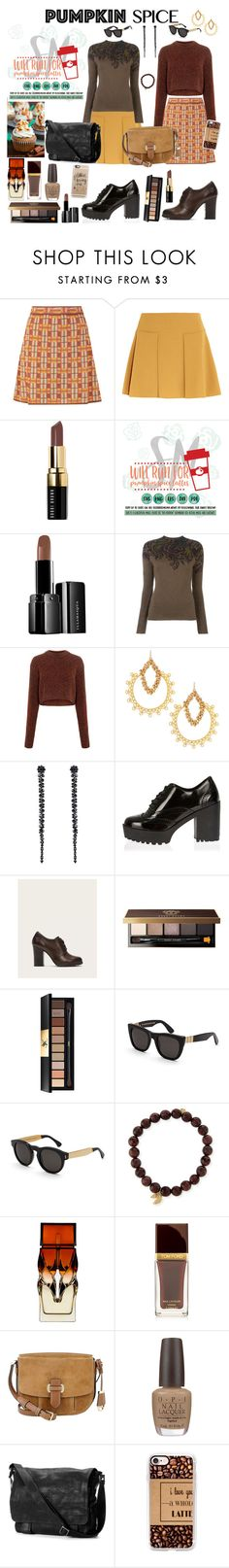 """""""Let's meet at the coffee shop between classes."""" by denibrad ❤ liked on Polyvore featuring M Missoni, See by Chloé, Bobbi Brown Cosmetics, Cricut, Illamasqua, Etro, TIBI, Devon Leigh, Simone Rocha and River Island"""
