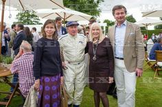 Goodwood Festival of Speed, Cartier Style Et Luxe, Sussex, UK - 26 Jun 2016  Lady Sarah Chatto, Sir Jackie Stewart, Nettie Mason and Laurent Feniou 26 Jun 2016