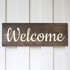 Welcome Sign Wood Sign Front Door Sign Rustic Sign Front Door Signs, Porch Signs, Home Signs, Custom Wood Signs, Rustic Signs, Diy Cutting Board, Do It Yourself Crafts, Porch Decorating, Decorating Ideas