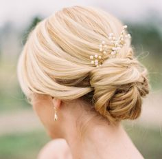 Updo wedding hairstyles updo flowers chignon updo wedding, simple wedding u Hairdo Wedding, Elegant Wedding Hair, Wedding Hair And Makeup, Hair Makeup, Wedding Simple, Whimsical Wedding, Boho Wedding, Fancy Hairstyles, Bride Hairstyles