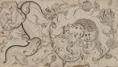 Ottoman period - Arts of the Islamic World | Lion, ch'i-lin, and dragon set in floral sprays |