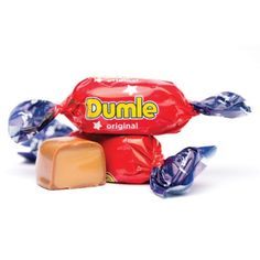 """Scandinavian Pick and Mix Candy """"Dumle (Dumle)"""" Toffee covered with milk chocolate (wrapped candy). Toffee, Twinkle Twinkle, Fudge, Gingerbread, The Originals, Sweet, Chocolates, Finland, Creativity"""