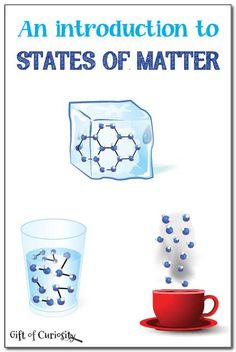 An introduction to states of matter for preschoolers, kindergarteners, and early elementary students. This is a really simple activity for introducing states of matter in a concrete way so that kids can understand the difference between solids, liquids, and gasses. || Gift of Curiosity