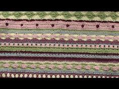 EASY crochet striped blanket tutorial - pretty crochet afghan/ baby blanket/ throw PART 1 - YouTube