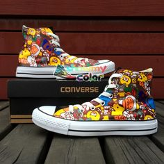 8ad48746590e76 Hand Painted Shoes Men Women Converse Chuck Taylor Brand Athletic Sneakers  Design Cartoon Monkey Kinds of Animals
