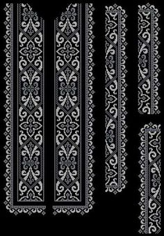 Blackwork Embroidery, Diy Embroidery, Cross Stitch Embroidery, Embroidery Patterns, Cross Stitch Borders, Cross Stitch Designs, Cross Stitching, Cross Stitch Patterns, Loom Beading
