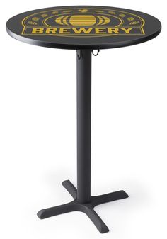 x Round Cocktail Table w/Custom Printed Top Menu Holders, Modern Cafe, Laminated Mdf, Walnut Table, Business Furniture, Commercial Furniture, Table Sizes, Furniture Styles, Cocktail Tables