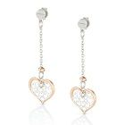 Nomination Romantica Sterling Silver & 18k Rose Gold Plate Heart Drop Earrings 141531-011 $76