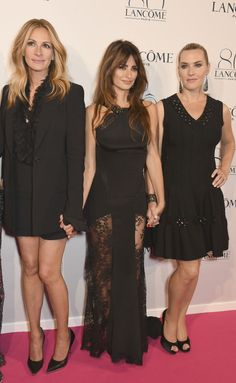 Julia Roberts in Givenchy, Penelope Cruz in Emilio Pucci, & Kate Winslet in Alaïa attend Lancôme's 80th Anniversary Party. #bestdressed