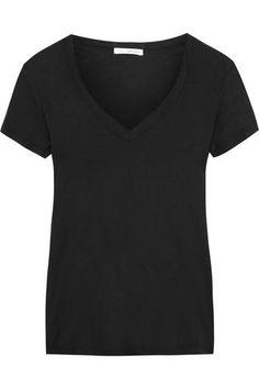 Casual slub cotton-jersey T-shirt #tee #offduty #covetme