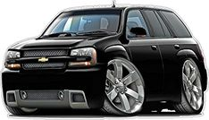 2010 Trailblazer SS SUV Truck Wall Decal Vintage Cartoon Car Movable Stickers Vinyl Wall Stickers for Kids Room Wall Stickers Murals, Vinyl Decals, Wall Decals, Suv Trucks, Chevy Trucks, Chevy Trailblazer Ss, Car Drawings, My Ride, Kids Room