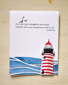 The Light Shineth Card by Maile Belles for Papertrey Ink (June 2015)