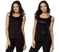 Pin to Win #SusanGraver Sweepstakes! {Set of 2 Tanks with Sparkles and Lace Trim} Enter here: http://sweeps.pinfluencer.com/QVC
