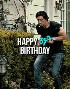 Adam Driver Actor, Kylo Ren Adam Driver, Happy 35th Birthday, Best Boyfriend, Fictional World, The Force Is Strong, Reylo, Star Wars Art, Starwars
