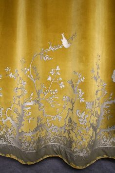 Timorous Beasties Fabric - Birdbranch Velvet Panel - saw this in the shop - it is lovely :)