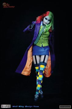 Hot Toys Scale Female Joker Action Figure Model Toys For Children Gifts Collections Female Joker Costume, Harley Costume, Female Clown, Joker Cosplay, Dc Cosplay, Joker Halloween, Diy Halloween Costumes For Women, Halloween Cosplay, Halloween Outfits