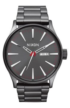 Nixon 'Sentry' Bracelet Watch, 42mm available at #Nordstrom