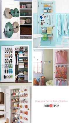 Organizing using the back of doors!
