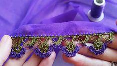 Herkesin Beğeneceği Sıralı Tığ Oyası Modeli #sıralıoyamodeli #tığoyası #sıralıtığoyaları #yeniyazmaoyaları Fleece Blanket Edging, Fleurs Diy, Needle And Thread, Crochet Lace, Tatting, Diy And Crafts, Crochet Table Runner, Lilac, Amigurumi