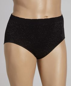 Take a look at this Black Lurex Shaper Briefs - Plus by Super-Fit Knitting on #zulily today!