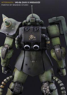 GUNDAM GUY: Mega Size 1/48 MS-06 Zaku II [Aftermath] - Customized Build