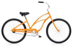 """Electra Cruiser 1 26"""" Ladies Orange/ Steel Frame. $259.99 plus tax and shipping or pick-up in store. Call for details (949) 675.5010"""