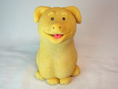 Decorative Figurine brings a smile to everyone with a personalized hand written phrase.  Weight: 6 - 6.5 oz Height: 3 - 3.5 inches  Made from salt dough, these figurin... #doggy