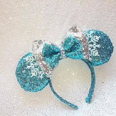 Frozen inspired Minnie ears 1 ready to ship