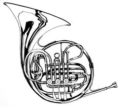 draw french horn images