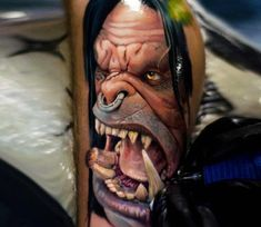 Grommash Hellscream tattoo by Tattoo Zhuzha