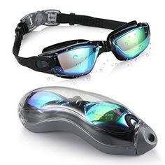 AEGEND Mirrored Swimming Goggles 2.0 No Leaking Anti Fog UV Protection Triathlon Swim Goggles Mirrored Coated with Free Protection Case for Adult Men Women Youth Kids Child, Black - http://www.exercisejoy.com/aegend-mirrored-swimming-goggles-2-0-no-leaking-anti-fog-uv-protection-triathlon-swim-goggles-mirrored-coated-with-free-protection-case-for-adult-men-women-youth-kids-child-black/swimming/