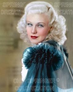 5 DAYS! 8X10 SEXY GINGER ROGERS IN TEAL LINGERIECOLOR PHOTO BY CHIP SPRINGER. Please visit my Ebay Store at http://stores.ebay.com/x5dr/_i.html?rt=nc&LH_BIN=1 to see the current listings of your favorite Stars now in glorious color! Message me if you would like me to relist your favorites.