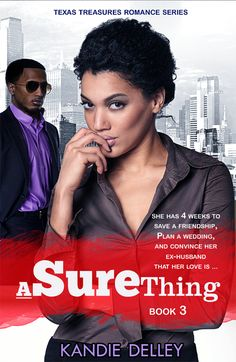 "1st Cover Design concept for light romantic comedy ""A Sure Thing""  as part of the Texas Treasures Collection"
