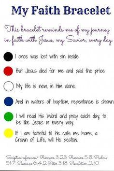 My Faith Bracelets Printable