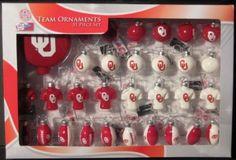 Oklahoma Sooners Christmas Ornaments