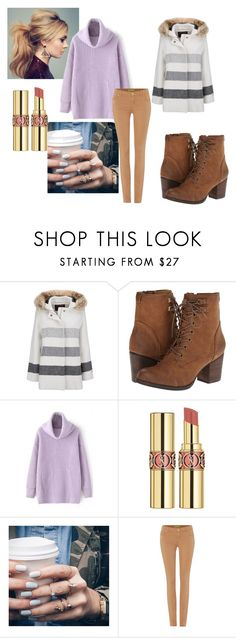 """Untitled #115"" by dina-6969 on Polyvore featuring Woolrich, Madden Girl, Yves Saint Laurent, Floss Gloss and Versace"