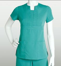 [Discontinued] Grey's Anatomy Scrubs - 2 Pocket Front Inset Top With Stitched Band Trim (Junior Fit) Scrubs Pattern, Medical Uniforms, Nursing Uniforms, Medical Scrubs, Nursing Scrubs, Scrubs Uniform, Greys Anatomy Scrubs, Moda Chic, Professional Look