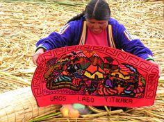 Reed Islands Peru | 054_titicaca_reed_island_woman_art.JPG