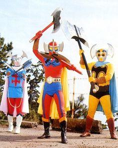 The Avengers - Axe Invaders (villains) Funny Costumes, Hero Costumes, Hero Tv Show, Superhero Tv Series, Secret Avengers, Japanese Superheroes, Vintage Robots, Sci Fi Tv Shows, Scary Monsters
