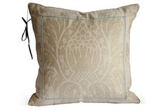Beige Damask Pillow on OneKingsLane.com