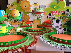 77  Decoracion Selva Infantil Jungle Party, Ideas Para, Ideas Decoración, Room Ideas, Bubbles, Birthday Cake, Disney, Kids, Animals