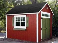 Garage Exterior - love the red barn style