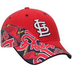 998a848d86a Men s St. Louis Cardinals  47 Red Wedge MVP Adjustable Hat