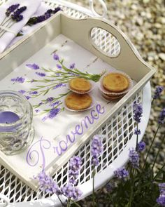 delightful lavender tray I'm going to try to paint this on a wooden tray I have in the spring
