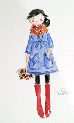 CHAMBRAY TUNIC - ORIGINAL WATERCOLOR by @Sophie + Lili