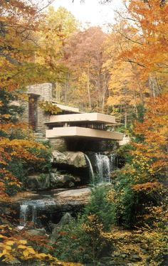 Frank Lloyd Wrights Falling Water, just outside of Pittsburgh.  One of my favorites.